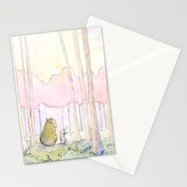 Unlikely Friendship Large Print (Bunny and Bear in the Woods) Stationery Cards