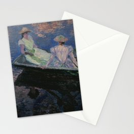 Claude Monet - On the Boat.jpg Stationery Cards