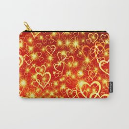 Hearts On Fire Carry-All Pouch