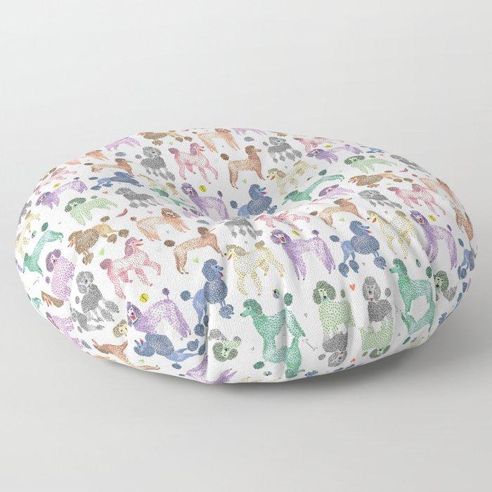 Poodles by Veronique de Jong Floor Pillow