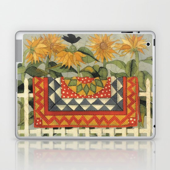 Sunflower Quilt Laptop & iPad Skin