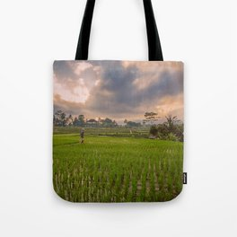 Bali rice field Tote Bag