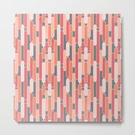 Modern Geometric Tabs in Coral, Pink, Gray and Peach Metal Print