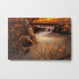 Hat Creek in Gold Metal Print