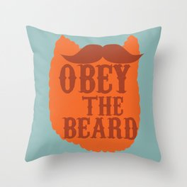 obey THE BEARD Throw Pillow
