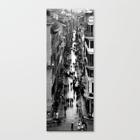 Rome, view from Spanish steps Canvas Print