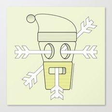 snowy santa  Canvas Print