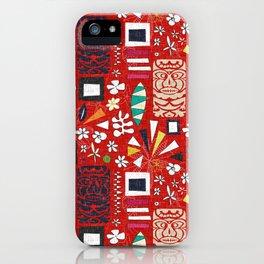 tiki red iPhone Case
