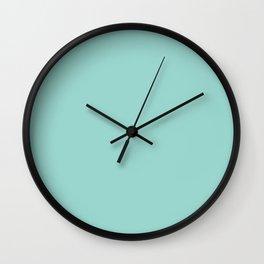 Dark Pastel Aquamarine Blue Green Solid Color  - All Color - Solid Hue - Single Shade Wall Clock