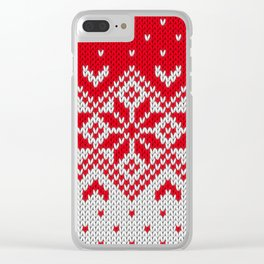 Winter knitted pattern 10 Clear iPhone Case