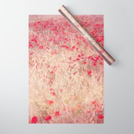 Fields of poppies Wrapping Paper