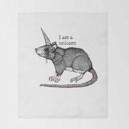 Unicorn Rat Throw Blanket
