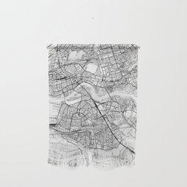 Rotterdam White Map Wall Hanging
