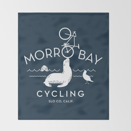 Morro Bay Cycling Throw Blanket