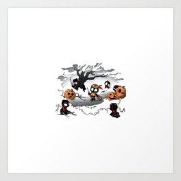 Oblivious Ninja Trick or Treat Art Print