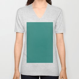 Celadon Green Unisex V-Neck