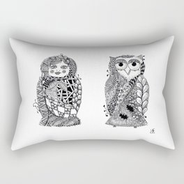 Babushka n Owl Rectangular Pillow
