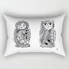 Babushka n Owl Rectangular Pillow
