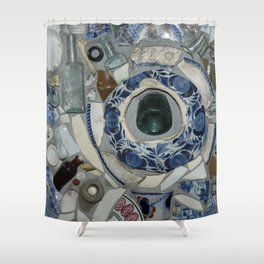Glass Bits and Pieces Shower Curtain