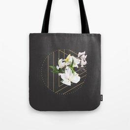 Tropical Flowers & Geometry III Tote Bag
