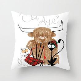 Och Aye Throw Pillow