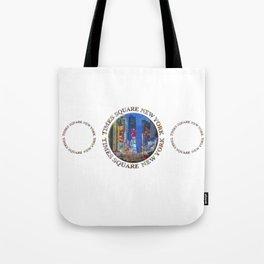 Times Square New York Triple Emblem (on white) Tote Bag