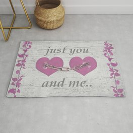 Shabby Chich Love Concept Poster Rug