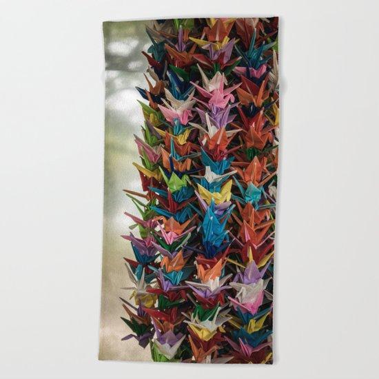 Paper Cranes Beach Towel
