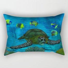 Into the Deep Aquarium Rectangular Pillow