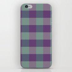 Pixel Plaid - Dark Seas iPhone & iPod Skin