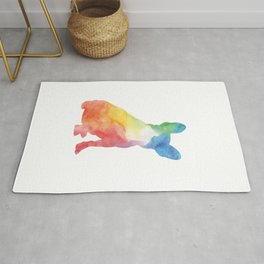 Watercolor frenchie Rug