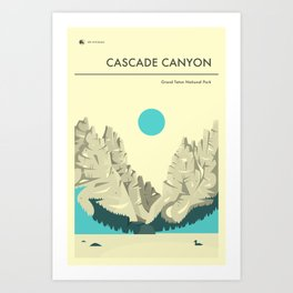 GRAND TETON NATIONAL PARK POSTER Art Print