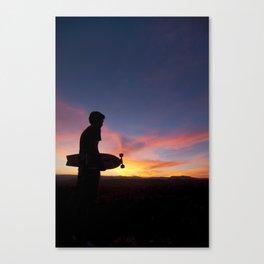 Longboard Silhouette Canvas Print
