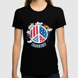 Imagine Peace And Love T-shirt