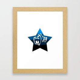 Quad Cali Blue Framed Art Print
