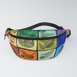 VA-RI-NATION Black Fanny Pack