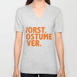 Worst Costume Ever Halloween Fancy Dress Costume Trick Treat Unisex V-Neck