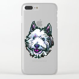 The Westie Dog Love of my Life Clear iPhone Case