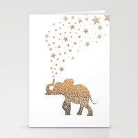 elephant Stationery Cards featuring ELEPHANT by Monika Strigel®
