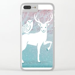 Winter In The White Woods Clear iPhone Case