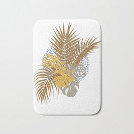 Exotic tropical leaves Bath Mat