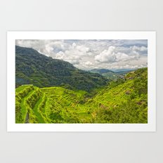 Banaue Rice Terraces Philippines Art Print