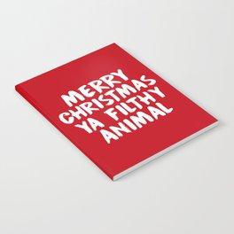 Merry Christmas Ya Filthy Animal, Funny, Saying Notebook
