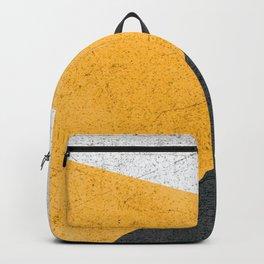 Modern Yellow & Black Geometric Backpack