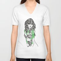 tattoos V-neck T-shirts featuring Tattoos by Maia Fjord
