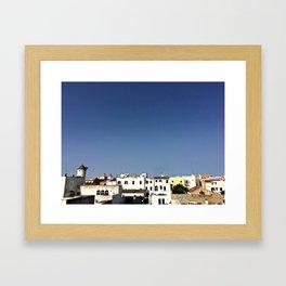 Spanish Island Village Framed Art Print