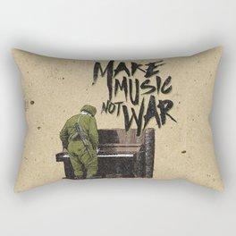 make music not war Rectangular Pillow