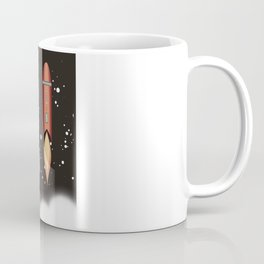 Outer space rockets flaming jet packs clouds Coffee Mug
