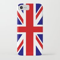 british flag iPhone & iPod Cases featuring British Union Flag by PICSL8