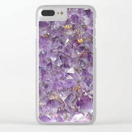 Amethyst dream Clear iPhone Case
